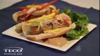 How To Make Braised Brats With Mango And Jicama Slaw