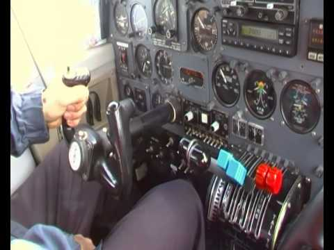 Britten Norman Islander, pilots work on a flight