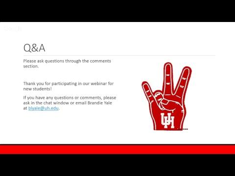 Fall 2017 New Graduate Student Webinar 3