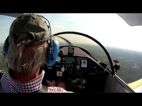 Old Man Flying Plane