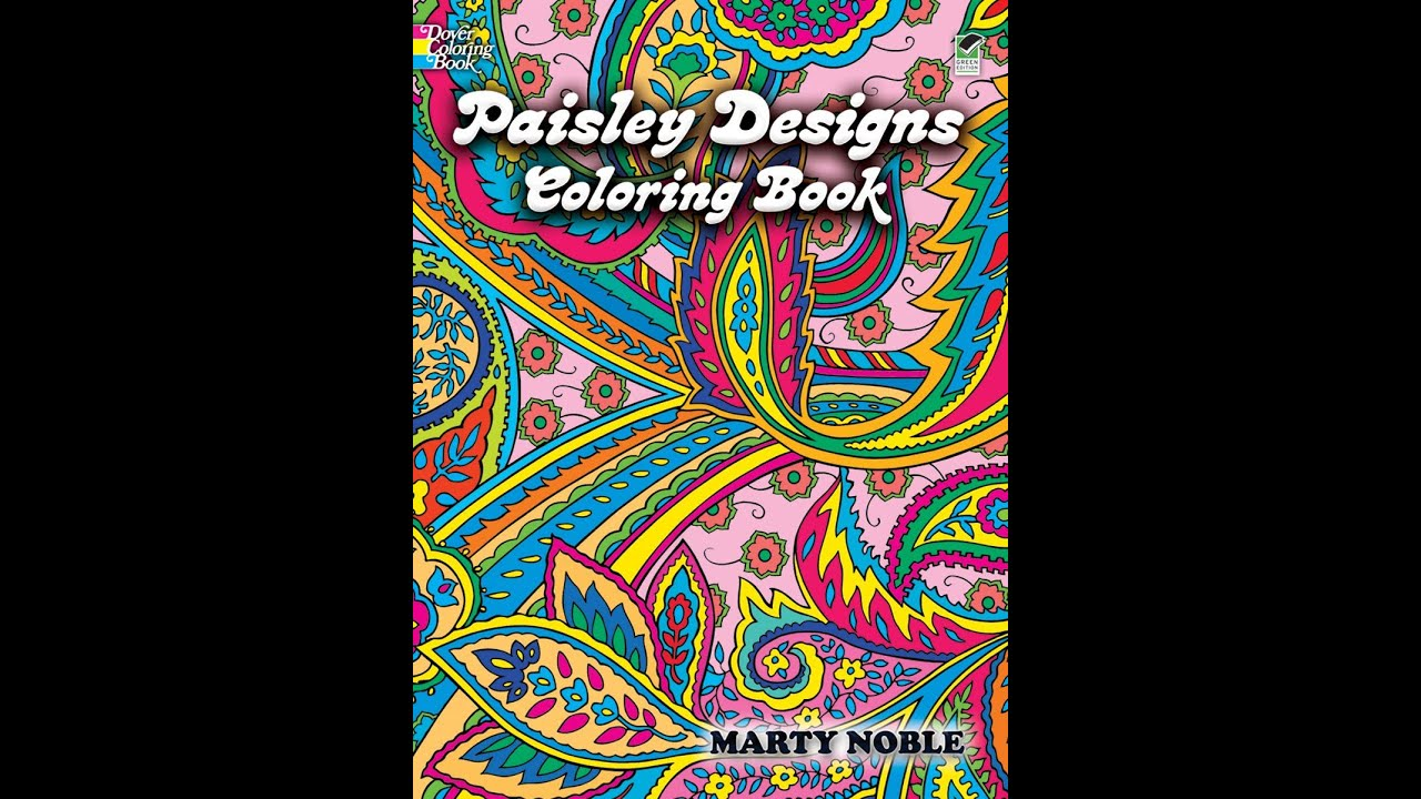Flip Though Dover Publications\' Paisley Designs Coloring Book by ...