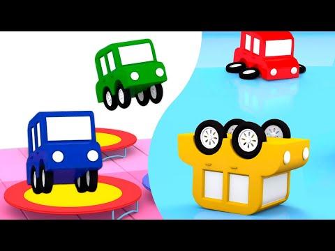 4 машинки | Развивающие мультфильмы 0+ | Веселые гонки машинок и фрисби