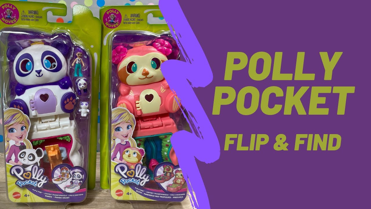 Polly Pocket Flip /& Find Panda Compact Great Gift for Ages 4 Years Old /& Up Flip Feature Creates Dual Play Surfaces Micro Doll Panda Figure /& Surprise Reveals