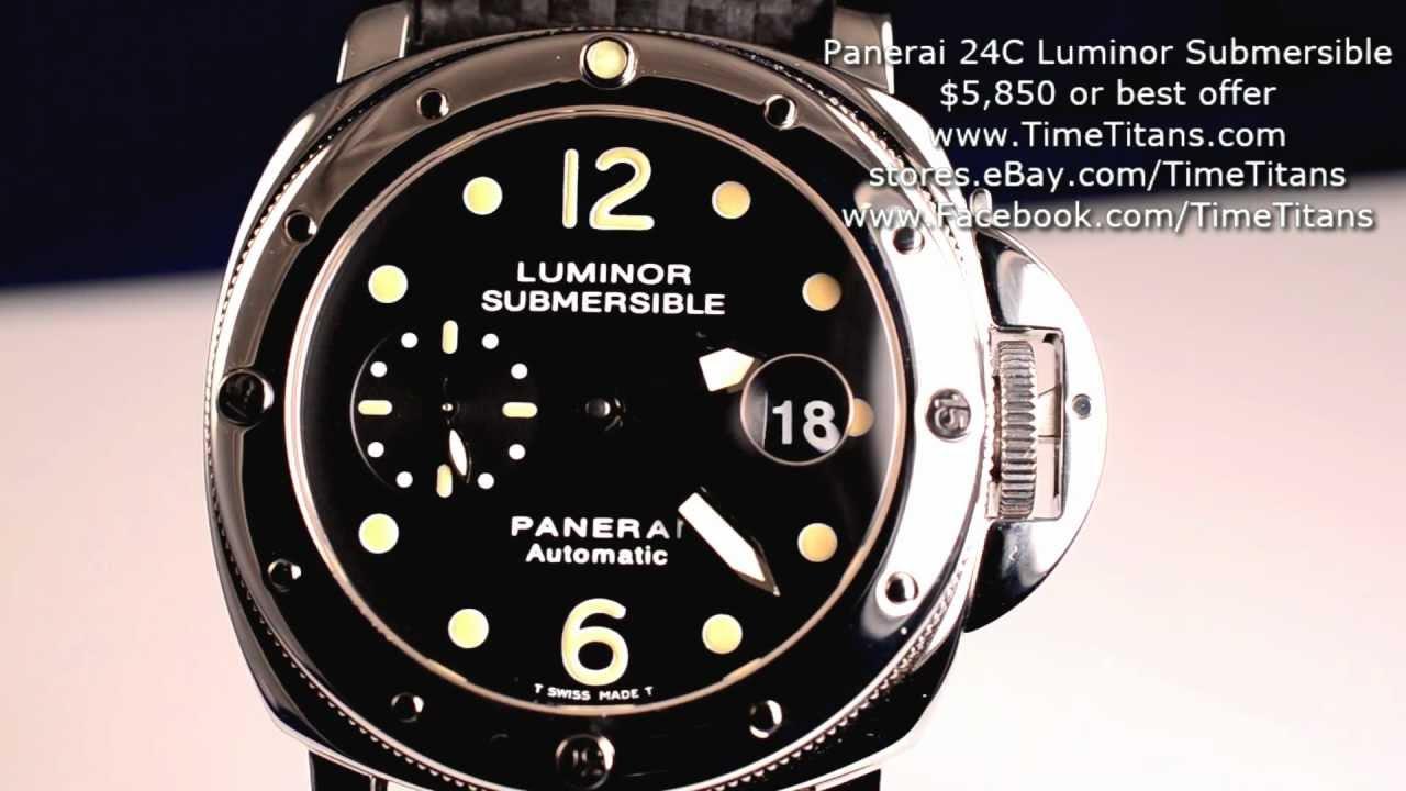 Panerai Luminor Submersible ''Tritium'' : PAM 24 Used ...