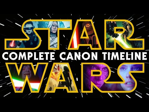 Star Wars: The Complete Canon Timeline 2017