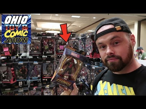 TOY HUNTING AT THE OHIO TOY AND COMIC ! NEW MARVEL LEGENDS RARE MEZCO ONE12, STAR WARS!