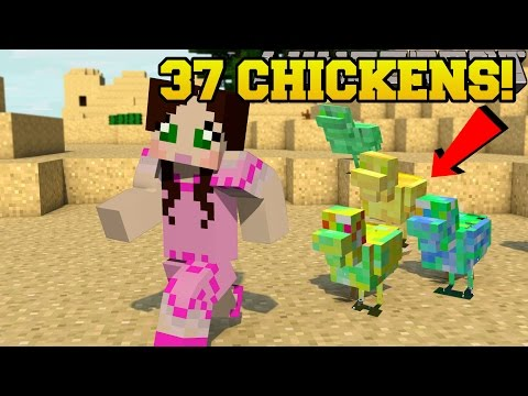 Minecraft : 37 EPIC NEW CHICKENS!!! (DIAMOND, TNT, EXPERIENCE, & MORE!) - Mod Showcase