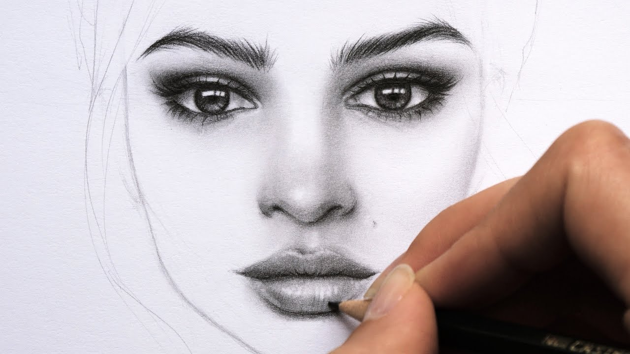 It's just an image of Selective Woman's Face Drawing