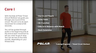 polar running program  mobility core and strength