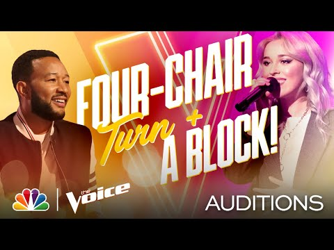 """Everyone Wants Cami Clune After She Sings Bon Iver's """"Skinny Love"""" - The Voice Blind Auditions 2020"""