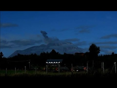 Residents near Chile's Calbuco volcano clean up