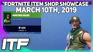 Fortnite Item Shop *NEW* MUNITIONS MAJOR SKIN! [March 10th, 2019] (Fortnite Battle Royale)