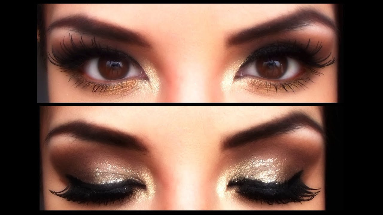 Ojos en Dorado Golden Eyes makeup YouTube