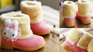 Зимние детские сапоги для девочек на сухую погоду (Aliexpress)