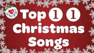 Best 11 Christmas Songs and Carols with Lyrics 🎄 Merry Christmas Music Playlist 🔔