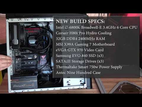 4K Video Editing & Digital Art Computer Build 2016