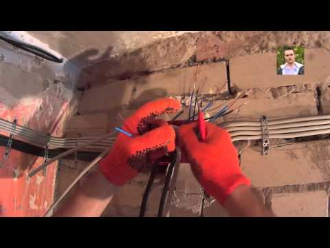 Монтаж электропроводки своими руками видео ЧАСТЬ 4