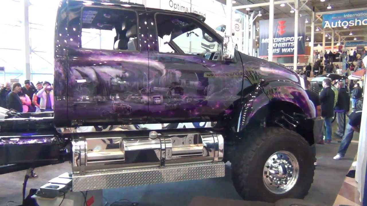 small resolution of super customed ford f650 truck at the ny auto show 2012 overview hd youtube