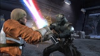 Force Unleashed - Darth Starkiller vs Luke Skywalker & Fallen Luke HD