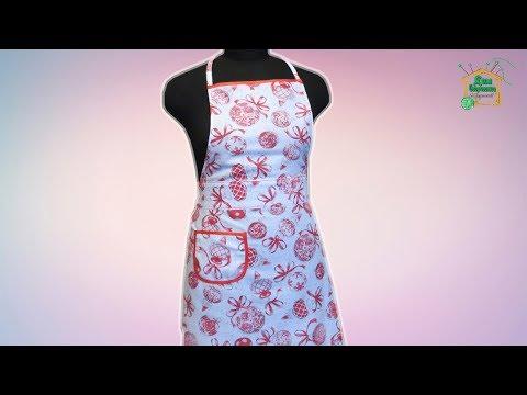 Как сшить фартук для кухни своими руками / Выкройка фартука /подробный мастер-класс от SvGasporovich