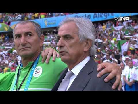 السلام الوطني لمنتخب الجزائرالعربي الوحيد بمونديال البرازيل 2014 - National Anthem of Algeria