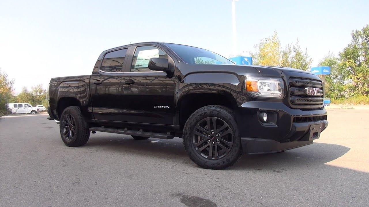 2018 Colorado Lifted >> 2018 GMC CANYON CREW CAB SHORT BOX 4-WHEEL DRIVE SLE - ONYX BLACK - YouTube
