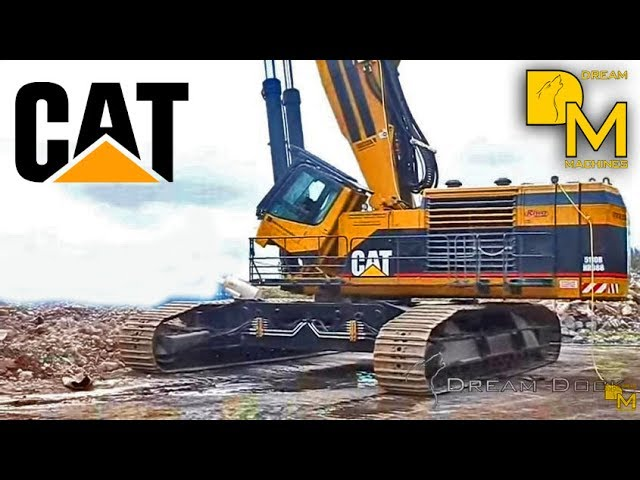 Demolition Extreme Worlds Largest Demolition Excavator Caterpillar With 90m Boom Youtube
