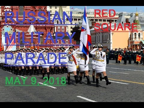RUSSIAN MILITARY PARADE. Moscow. Red Square. May 9, 2018  (subtitles)