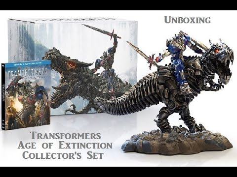 Unboxing Transformers Age of Extinction Collectors Edition with Statue