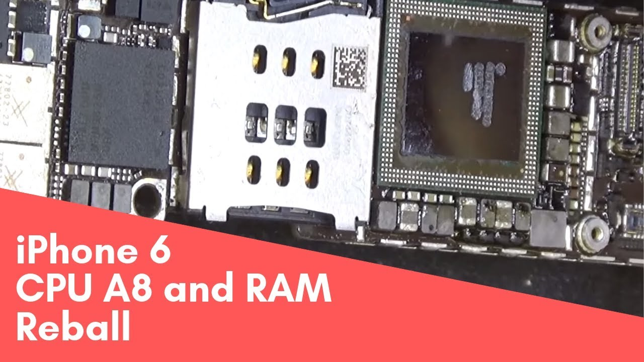 iPhone 6 CPU A8 reball \ Установка разделенного процессора Apple A8