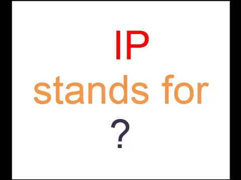 What is full form of IP ? - YouTube