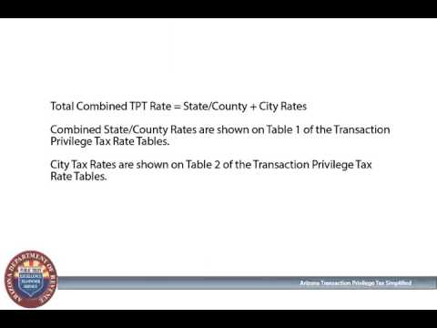 Finding the Correct Arizona Transaction Privilege Tax Rate - YouTube