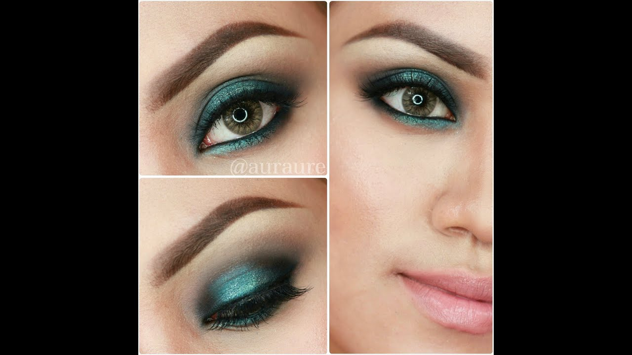 Auraure Tutorial Glam Turquoise Smokey Eyes Youtube