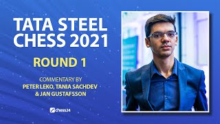 Tata Steel Masters | Round 1 | Jan Gustafsson, Peter Leko \u0026 Tania Sachdev