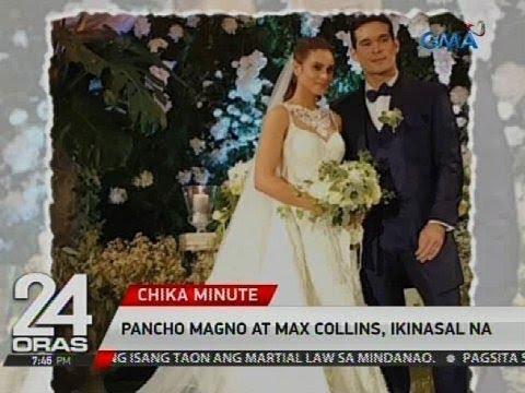 Pancho Magno at Max Collins, ikinasal na - YouTube