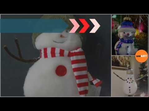 Blue Christmas Ornaments - Snowman Christmas Ornaments