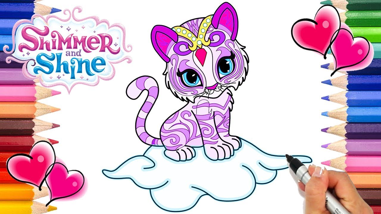 Nahal Shimmer And Shine Coloring Page Shimmer And Shine Coloring