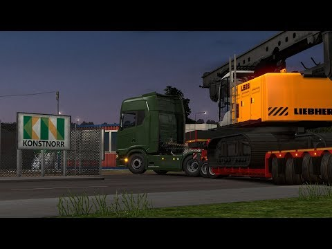 Liebherr LB 28 Liepaja-Stockholm - Euro Truck Simulator 2 Gameplay |