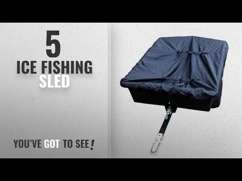 Top 10 Ice Fishing Sled [2018]: Deluxe Universal Ice Fishing Sled Cover Trophy Angler