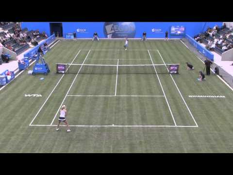 Highlights of Anne Keothavong vs. Alison Riske at the 2013 Aegon Classic