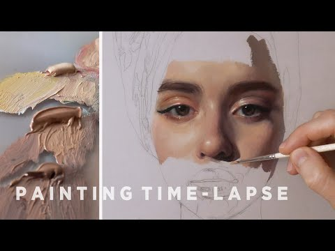 """OIL PAINTING TIME-LAPSE    """"Blossom"""""""