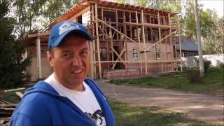 Монтаж стропильной системы и утепление стен и потолка каркасного дома(, 2017-01-09T21:30:25.000Z)