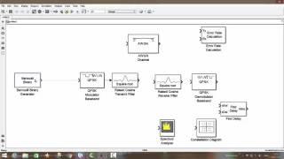 Начало работы, создание упрощённой идеальной модели системы связи