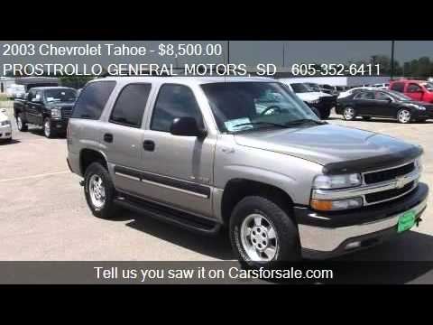 2003 Chevrolet Tahoe Ls For Sale In Huron Sd 57350