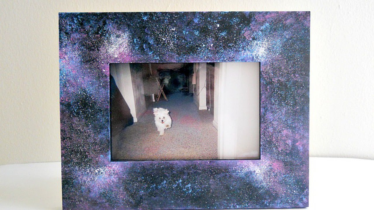 Create a Cool Galaxy Frame - DIY Home - Guidecentral - YouTube