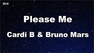 Please Me - Cardi B & Bruno Mars Karaoke 【No Guide Melody】 Instrumental
