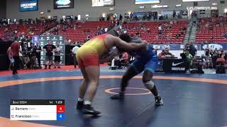 125 Kg Cons 8 2 James Romero Adams State Wrestling Vs Ceron Francisco TMWC Cavalier WC