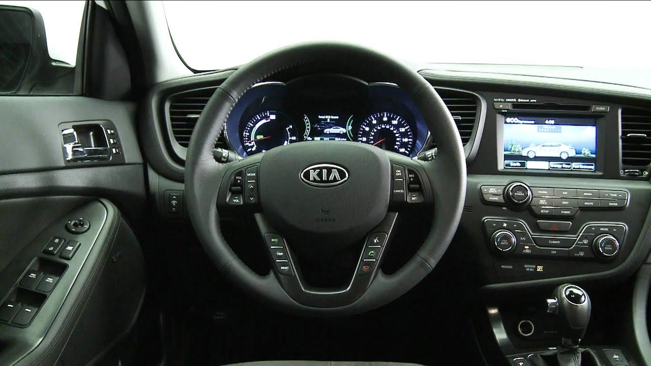 2010 La Auto Show Kia Optima Hybrid Interior Views Youtube