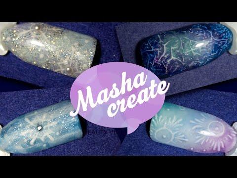 Вязанный новогодний дизайн ногтей гель-лаком, гель-краской и акриловой пудрой!