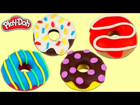 How To Make Yummy Play Doh Donuts | Fun & Easy DIY Play Dough Art!